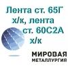 Лента сталь 65Г, лента 60С2А пружинная холоднокатаная ГОСТ 2283-79