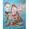 шаржи портреты в Омске по фото